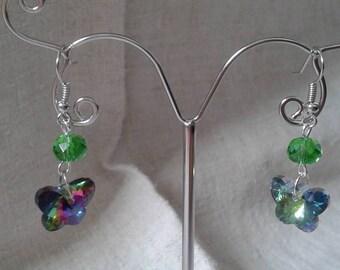 """Earrings """"butterfly rhinestones"""""""