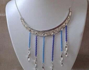 "necklace ""half moon silver chain"""