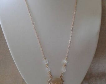 """necklace """"gold and white wedding"""""""