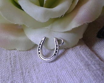 set of 10 charm Horseshoe in silver