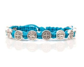 Blessing St. Benedict bracelet - silver medals, MEDJUGORJE