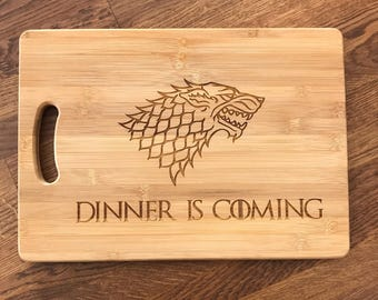 Chopping Board - Dinner is Coming - Game of Thrones