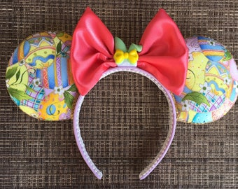 Easter inspired Mickey Mouse Ears, Easter Minnie Mouse Ears
