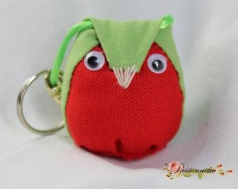 Little OWL /hibou key or deco purse fabric