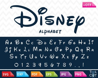 Disney Font Svg Disney Monogram Font Svg Disney Letters Svg Download Disney Alphabet Svg Cricut Cuttable File Dxf Disney Font for Silhouette