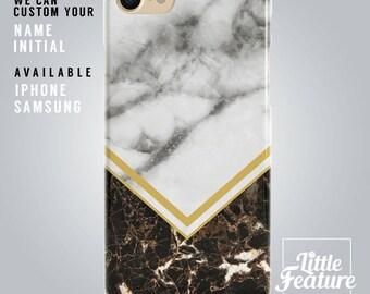 geometric iphone 8 case, black marble i phone x case, white marble iphone 7 plus case, arrow phonecase Samsung Galaxy s8 case grey phonecase