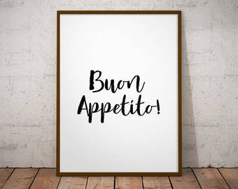 Buon appetito! -  Italian quote prints, welcome printable, mi casa print, welcome prints, entryway decor, hallway wall decor, Italian prints