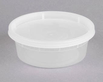 ChoiceHD Microwavable Translucent Plastic Deli Container and Lid Combo Pack