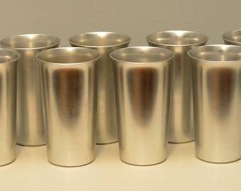 Set of Eight Kensington Aluminum Tumblers
