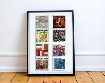 Stone Roses Album Collection A4 Art Print