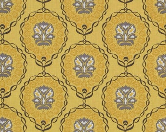 VALORI WELLS QUILL mustard PATCHWORK fabric
