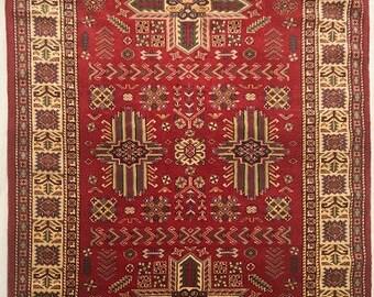 Sherwan (Shirvan) Hand Knotted Wool Rug