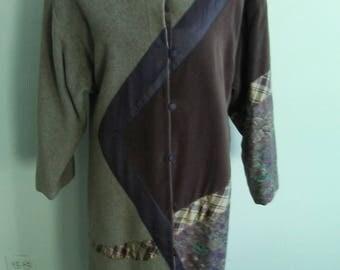 Custom Made Vintage Patchwork Coat