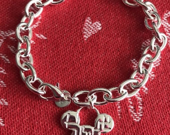 Mickey Mouse Inspired 925 Sterling Silver Charm Bracelet