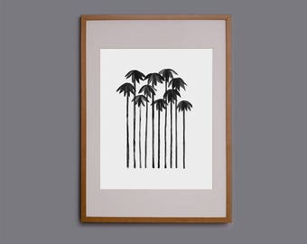 Palm tree print, palm tree art, palm tree wall art, giclee, tropical, home decor, art print, poster, picture, watercolour, watercolor