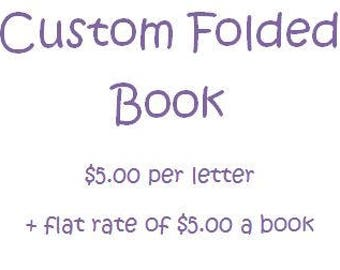Folded Book Art- Custom
