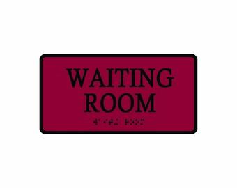 Waiting Room Enamel Pin Epoxy Fugazi D.C. Hardcore Punk