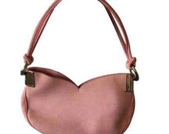 Vintage Escada Suede Hobo Bag in Blush/Pink