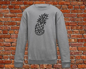 Fruit sweater, pineapple tattoo, pineapple sweater, tattoo sweater, classic tattoo art, hipster gift, gift for tattoo lovers, summer sweater