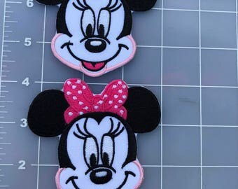 Dissney Apliqué iron on Minnie Mouse and Mickey Mouse .