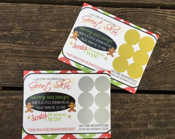 R+F Holiday Scratch Off Cards (Printed Version), Ready to Ship, Holiday Scratch Off Cards, Printed Cards