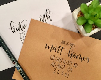wedding calligraphy envelope addressing
