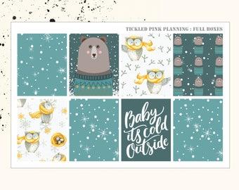 WINTER NIGHTS | Full Boxes | Planner Stickers | Erin Condren Vertical