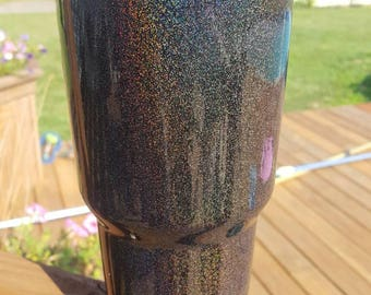 Glitter Powder coated Yeti. Will also customize.