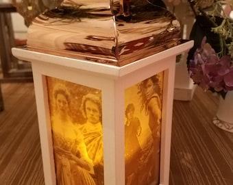 White Outlander Inspired Indoor Lantern