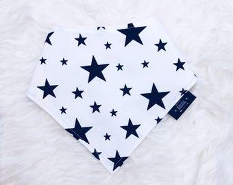 Monochrome Stars, bib, baby shower, gift, Stars, bandana bib, dribble bib, baby girl, baby boy, toddler, drool bib, monochrome baby
