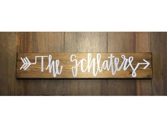 Personalized Name, Solid Wood Sign, Two Available Sizes