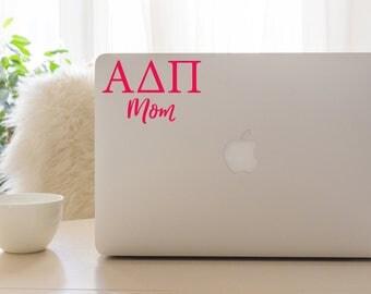 Alpha Delta Pi Mom Decal, ADPi Mom Sticker, Sorority gift
