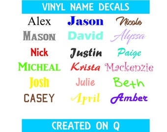 Vinyl Name Decal / BOGO SALE / Name Decal / Name Sticker / Tumbler decal / RTIC decal / Water Bottle