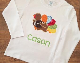 Boys Thanksgiving shirt, boys turkey shirt, boys thanksgiving turkey shirt, boys thanksgiving turkey football shirt, boys football shirt
