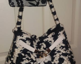 Borsa all'uncinetto, Borsa donna, Borsa a tracolla, Handmade crochet bag