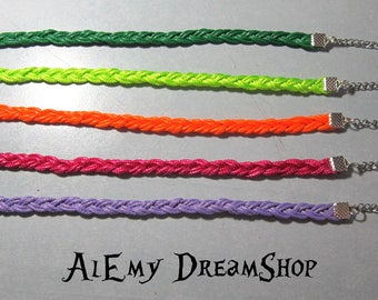 Bracelets with colored woven strands
