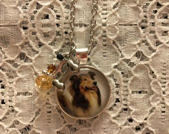 Collie Charm Necklace/Collie Jewelry/Collie Pendant/I Love My Collie Jewelry/I Love Collies Jewelry/Collie Dog Jewelry