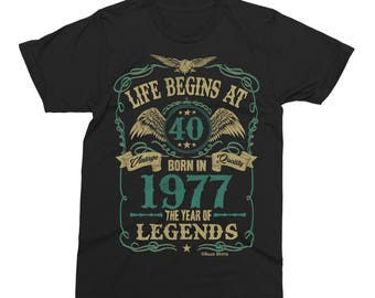 Life Begins At 40 Mens T-Shirt