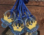 Royal prince baby shower pacifier/royal prince baby shower party necklace game/royal prince baby shower favor/royal  prince baby shower