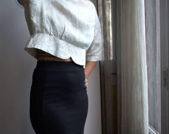 SALE 1960s White blouse, 60s shirt, shiny top, embossed, elegant blouse, Small / Medium