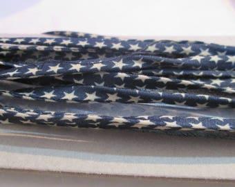 1 m of spaghetti cord / Navy Blue bias Star 5 mm cotton