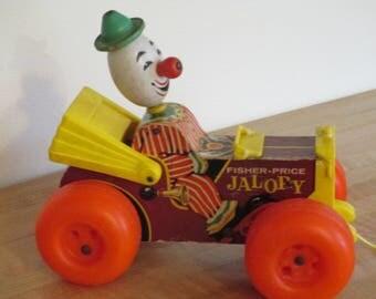 Vintage Fisher Price Clown Car Jalopy