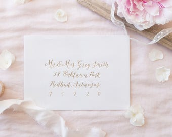 Wedding Calligraphy/Envelope Addressing in Modern Calligraphy