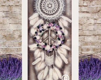 Postage inclded in listed price ( smaller size 900mm-450mm ) Dream catcher painting