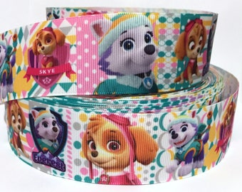 "GROSGRAIN RIBBON 7/8"" Paw Patrol Dogs P30 By the Yard( Buy Another One, Add to Cart,  Save on Combine Shipping )"
