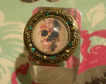 Muerte Floreciente Bronze Adjustable ring