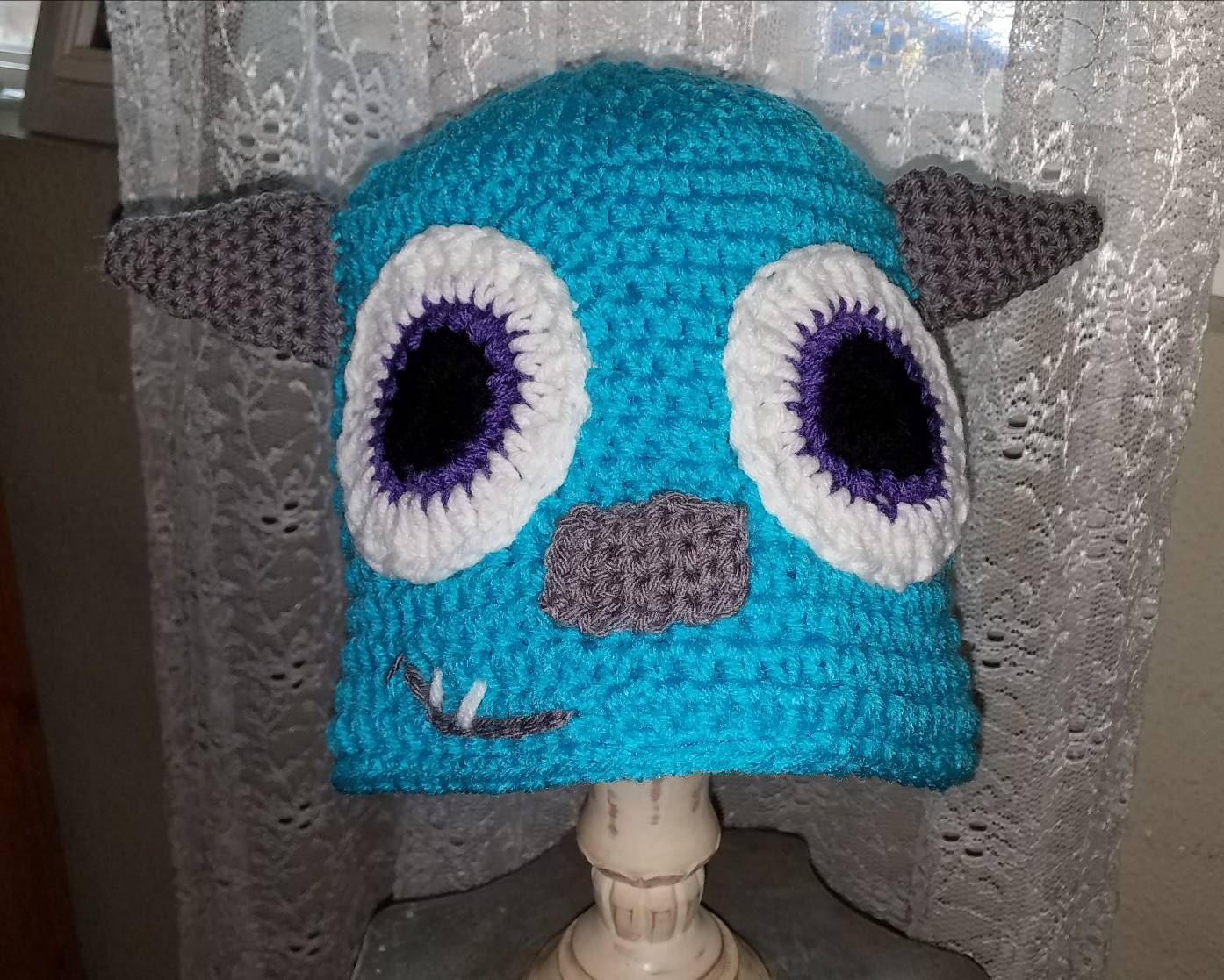 Details. This is a crochet beanie, inspired by Monster's Inc ...