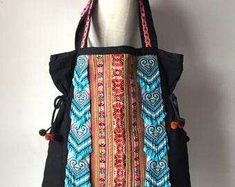 Tribal handicrafts tote bag