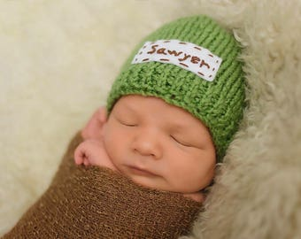 Baby Name Hat - Any Color!