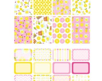 SUMMER SORBET Weekly Planner Sticker Kit/Printable's Happy Planner Classic Instant Download /